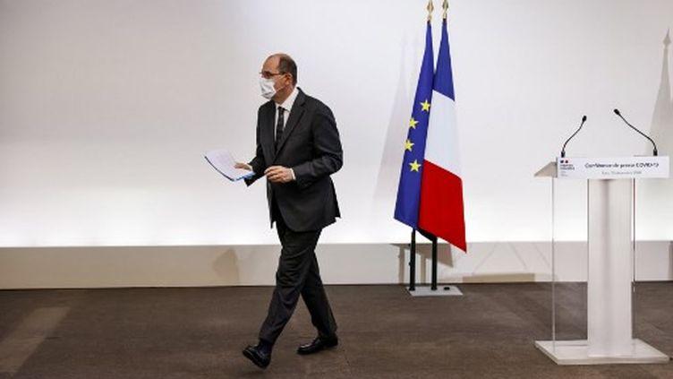 Jean Castex, le Premier ministre, après son allocution le 10 décembre 2020. (THOMAS SAMSON / POOL)