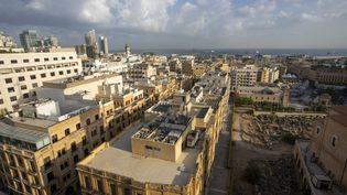 Le centre-ville de Beyrouth (Liban) le 23 septembre 2021 (NICOLAS MAETERLINCK / MAXPPP)
