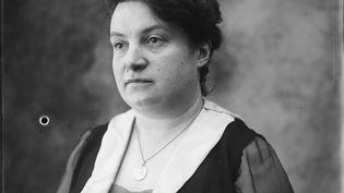 Alice Milliat, présidente de la Fédération des sociétés féminines sportives de France, en 1914-1915. Elle a alors 30 ans. (BIBLIOTHÈQUE NATIONALE DE FRANCE / MAXPPP)