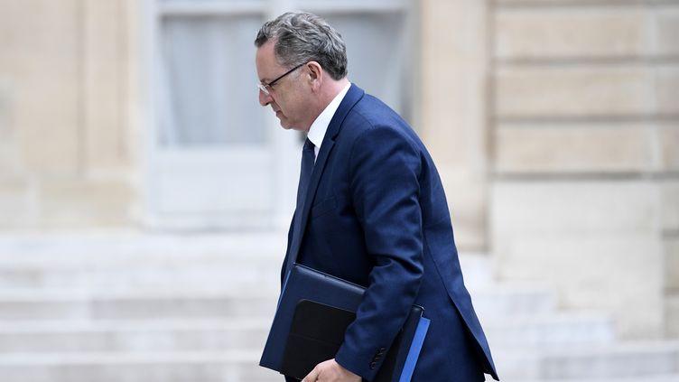 Le ministre de la Cohésion des territoires, Richard Ferrand, à l'Elysée, le 24 mai 2017. (STEPHANE DE SAKUTIN / AFP)