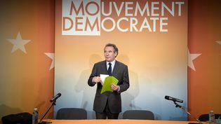 Le président du MoDem, François Bayrou, le 23 avril 2009. (MARTIN BUREAU / AFP)
