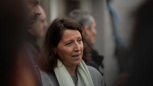 La ministre de la SantéAgnès Buzyn lors d'une conférence de presse, le 11 février 2019, àAvoine(Indre-et-Loire). (GUILLAUME SOUVANT / AFP)