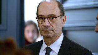 Eric Woerth, le 25 mars 2015, au palais de justice de Bordeaux. (JEAN-PIERRE MULLER / AFP)