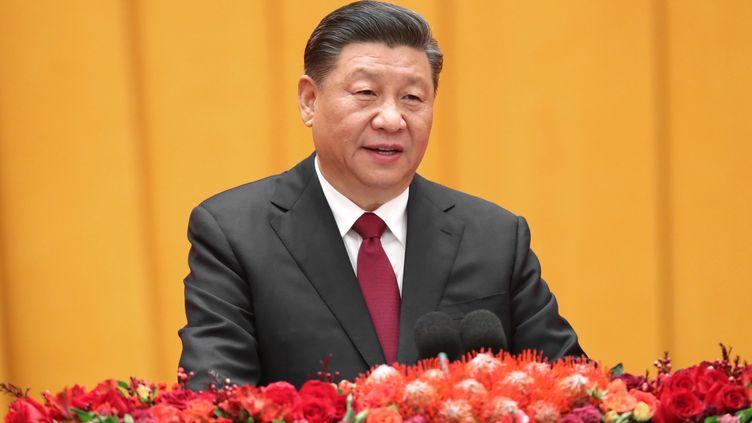 Xi Jinping à Pékin (Chine), le 23 janvier 2020. (YAO DAWEI / XINHUA / AFP)