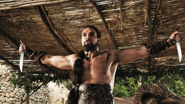 """Jason Momoa incarneKhal Drogo, le chef des Dothrakis,dans la série """"Game of Thrones"""". (HBO)"""