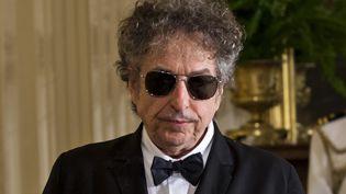 Le chanteur Bob Dylan est invité à la Maison Blanche, le 29 mai 2012, à Washington (Etats-Unis). (MAXPPP)