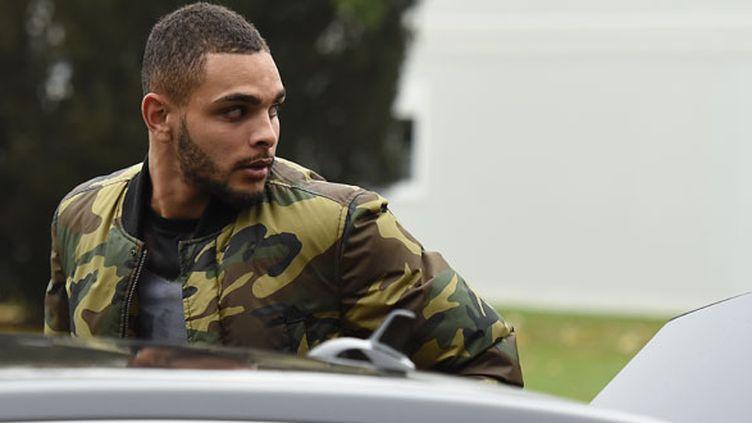Le défenseur de l'AS Monaco Layvin Kurzawa à son arrivée à Clairefontaine