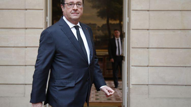 François Hollande, le 15 juin 2016 à l'Elysée. (JACKY NAEGELEN / AFP)