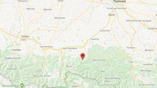 Le spéléologue, coincé depuis vendredi après une chute dans le gouffre du Pont de Gerbaud, à Herran (Haute-Garonne) a été secouru dans la nuit. (GOOGLE MAPS)