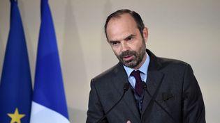 Le Premier ministre, Edouard Philippe, le 20 novembre 2017 à Bobigny (Seine-Saint-Denis). (STEPHANE DE SAKUTIN / AFP)