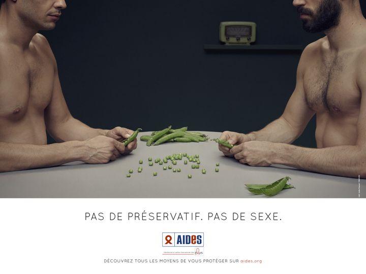 Campagne de prévention du sida réalisée par Aides en 2014. (AIDES)
