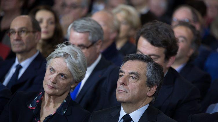 Penelope et François Fillon, le 29 janvier 2017, lors d'un meeting organisé porte de la Villette à Paris. (MAXPPP)