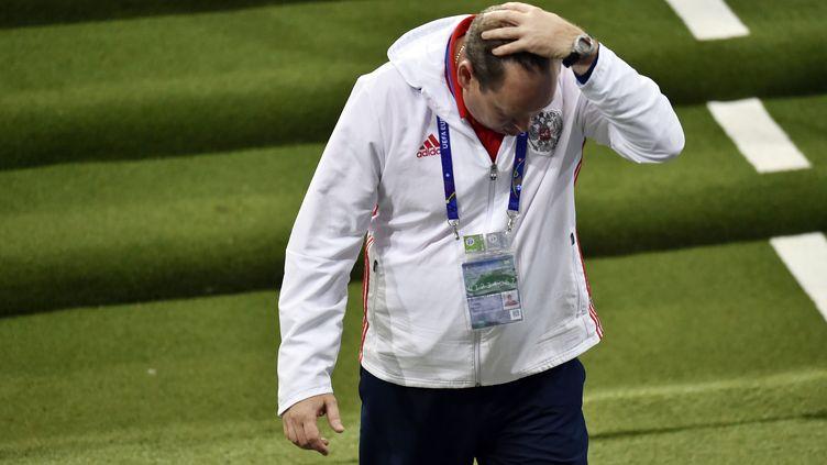 Leonid  Sloutski n'a pas réussi son Euro avec la Russie. (PASCAL PAVANI / AFP)