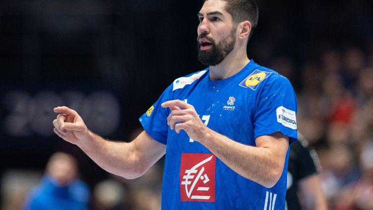 Nikola Karabatic, lors du match de championnat d'Europe entre la France et le Portugal, le 10 janvier 2020. (ROBERT MICHAEL / DPA-ZENTRALBILD)