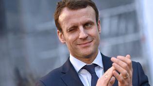 Emmanuel Macron, le 1er février 2016, à Saint-Nazaire (Loire-Atlantique) (LOIC VENANCE / AFP)