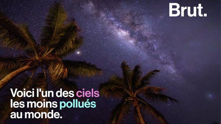 VIDEO. Pollution lumineuse : le ciel de l'île de Niue, l'un des ciels les moins pollués au monde (BRUT)