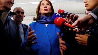 Ségolène Royal, le 24 octobre 2016 àTourouvre (Orne). (CHARLY TRIBALLEAU / AFP)