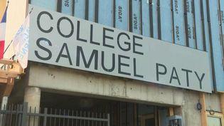 À Valenton, dans le Val-de-Marne, un collège qui porte le nom de Samuel Paty a ouvert ses portes à la rentrée scolaire. (CAPTURE D'ÉCRAN FRANCE 3)