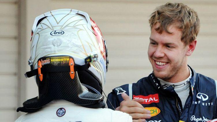 Sebastian Vettel et Kamui Kobayashi