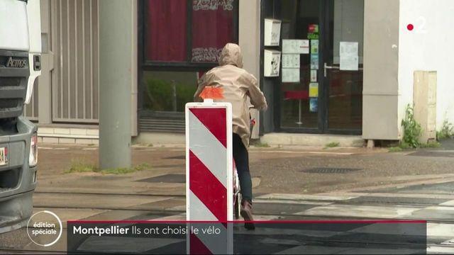 Déconfinement : à Montpellier, des pistes cyclables provisoires pour limiter l'usage des transports en commun