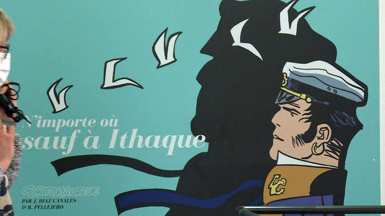 """""""N'importe où sauf à Ithaque- Corto Maltese"""" exposition à l'ancienne piscine deSainte-Foy-lès-Lyon (Rhône) (France 3 Aura)"""