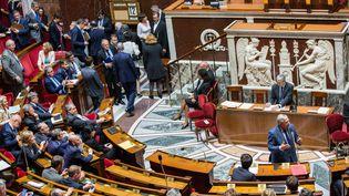 Paris, le 12 juin 2018. Explication de vote et vote solennel du projet de loi ELAN à l'Assemblée Nationale (MAXPPP)