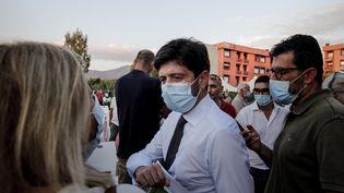 Le ministre italien de la Santé, Roberto Speranza, le 7 septembre 2020 à Pise (Italie). (ENRICO MATTIA DEL PUNTA / NURPHOTO / AFP)