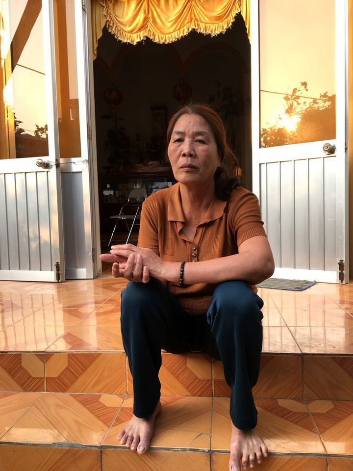 Pham Thi Binh a perdu son mari, pêcheur, en 2015. (RADIO FRANCE / DOMINIQUE ANDRE)