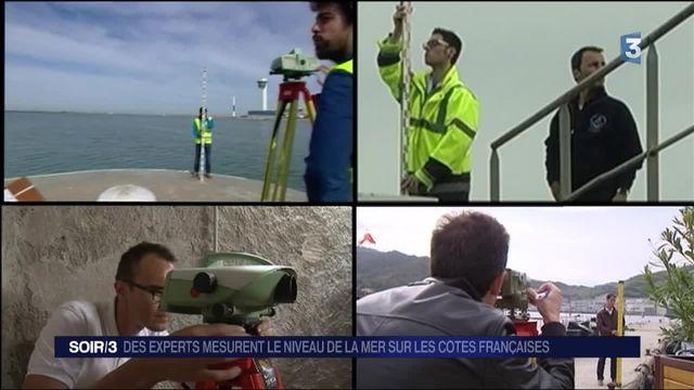 Des experts mesurent le niveau de la mer sur les côtes françaises