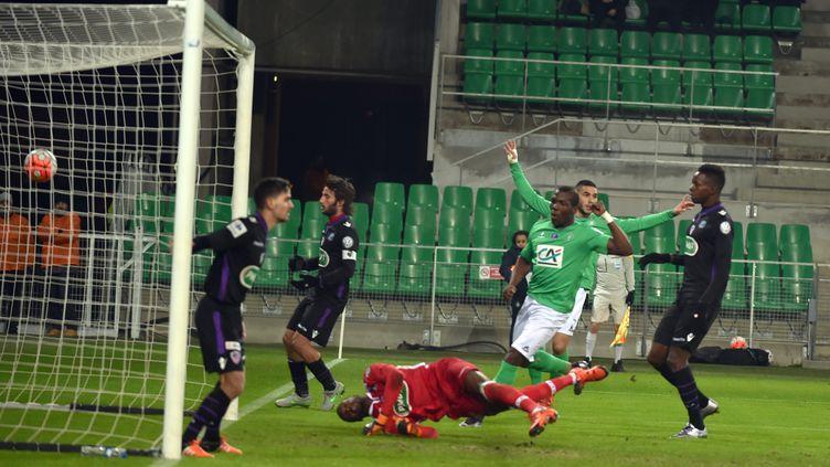 Jean-Christophe Bahebeck avait ouvert la marque pour les Verts (YVES SALVAT / MAXPPP)