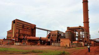 La plus grande entreprise minière de Guinée, la Compagnie des Bauxites de Guinée (CBG), à Kamsar, une ville au nord de la capitale Conakry. Le pays est le premier exportateur mondial de bauxite.    (GEORGES GOBET / AFP)