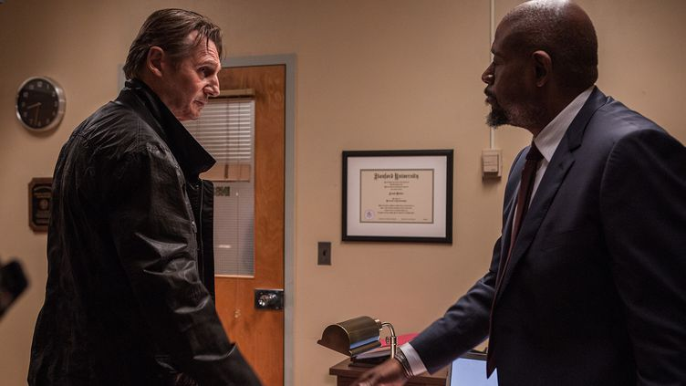 "Liam Neeson et Forest Whitaker dans ""Taken 3""  (Copyright McFadden - Arpajou - Mandaville)"