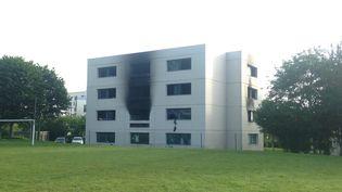 Incendie à l'Ecole Supélec de Rennesinstallée sur la commune de Cesson-Sévigné (CLAIRE STAES / MAXPPP)