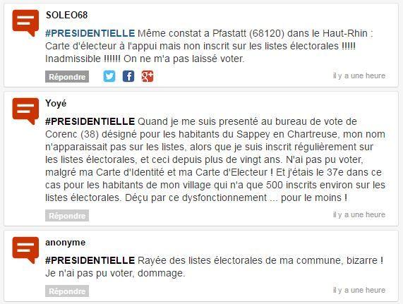 Certains des commentaires reçus par franceinfo. (FRANCEINFO)
