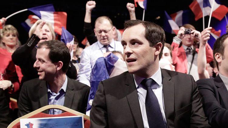 """(Nicolas Bay, secrétaire général du FN, annonce des convocations en commission de discipline pour """"quelques dizaines de candidats"""" © MxPPP)"""