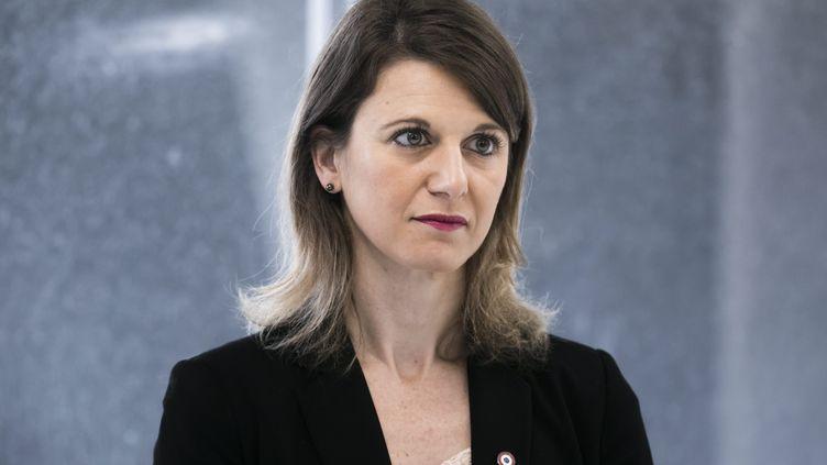 Laurianne Rossi, député LREM de la 11ecirconscription des Hauts-de-Seine, à Montrouge, le 11 mars 2020. (VINCENT ISORE / MAXPPP)