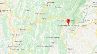 Bellegarde (Valserhône), dans l'Ain. (GOOGLE MAPS / FRANCEINFO)