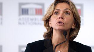 Valérie Pécresse durant une conférence de presse à l'Assemblée nationale à Paris, le 29 octobre 2013. (KENZO TRIBOUILLARD / AFP)
