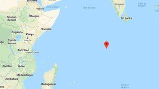 Les îles Chagos, dans l'océan Indien, ne sont peut-être plus britanniques pour longtemps. (GOOGLE MAPS)