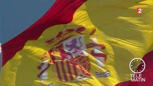 Un drapeau de l'Espagne (FRANCE 2)