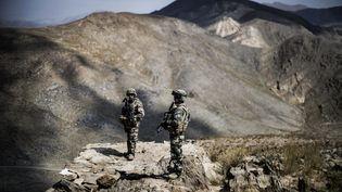 Jusqu'à 4 000 soldats français ont été postés en Afghanistan au plus fort de l'engagement militaire de l'Otan. Les dernières troupes françaises sont parties en 2014. (JEFF PACHOUD / AFP)