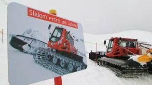 Les championnats de France de dameuses ont eu lieu à Peyragudes (Hautes-Pyrénées). (FRANCE 3 MIDI-PYRÉNÉES )
