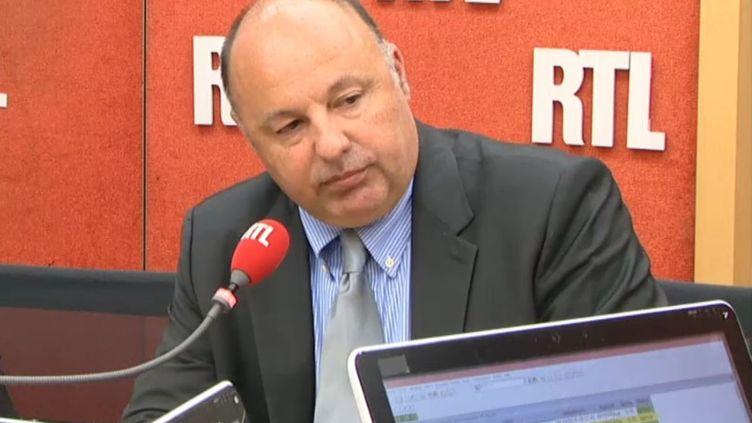 Capture d'écran de l'interview de Christophe Naudin sur RTL, le 28 octobre 2015. (RTL / FRANCETV INFO)