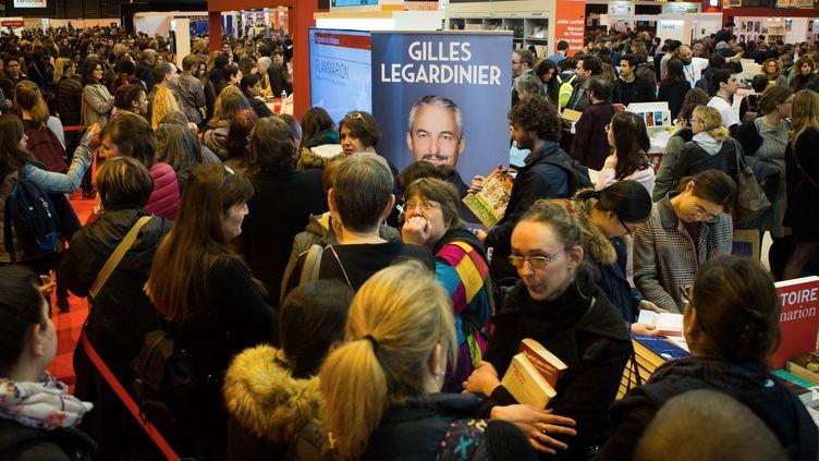 Le Salon du livre, Porte de Versailles à Paris, le 17 mars 2018. (MAXPPP)