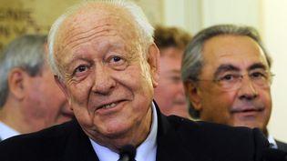 Le maire UMP de Marseille, Jean-Claude Gaudin, reconduit à son poste le 30 mars 2014. (BORIS HORVAT / AFP)