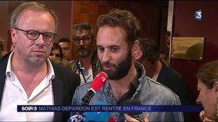 Mathias Depardon a été libéré après un mois en prison en Turquie. (FRANCE 3)