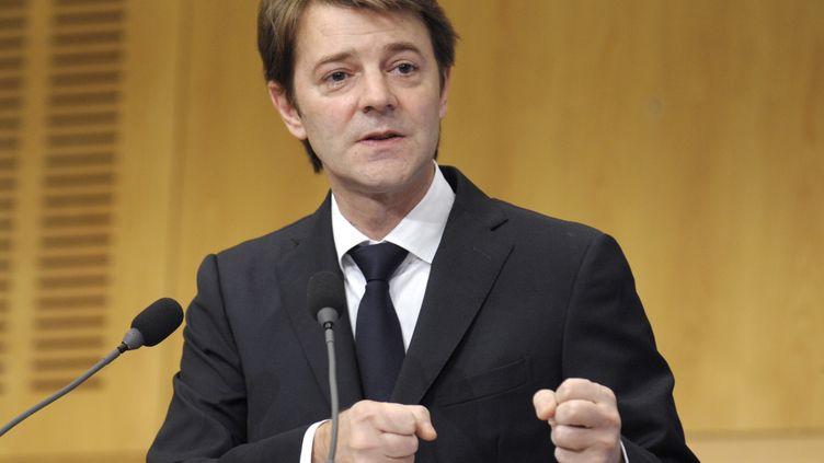 François Baroin ouvre le Boao forum pour l'Asie au ministère de l'Economie et des Finances à Paris le 23 novembre 2011. (ERIC PIERMONT / AFP)