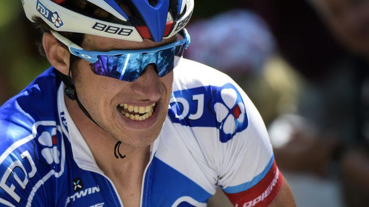 Alexandre Geniez a pris la tête du général du Tour de l'Ain  (LIONEL BONAVENTURE / AFP)