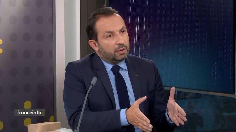 Sébastien Chenu, porte-parole du Rassemblement national et député du Nord. (FRANCEINFO / RADIO FRANCE)