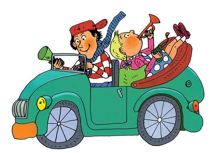 Tom-Tom et Nana en voiture  (Bernadette Desprès)